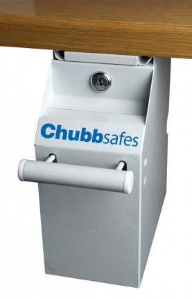 Chubbsafes CU-350 Under Counter Cash Safe fitted under a till counter