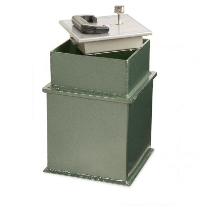 £3K Underfloor Security Safe - Burton Claymore 9 Key open