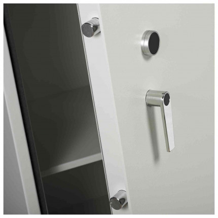 Dudley Compact 5000-6 Fire £5000 Rated Security Safe - door handle detail