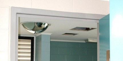 Anti-Ligature Institutional Ceiling Dome Mirror 500mm diameter