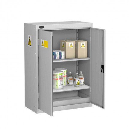 Probe GEN-O COSHH Low Double Door Steel Cabinet - open doors