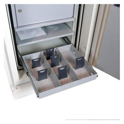 Chubbsafes Data Plus DP1 Fireproof Data Media Safe 120mins - Showing roll out drawer