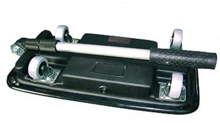 Folded Security Inspection Mirror 20x40cm Castors LED - Dancop