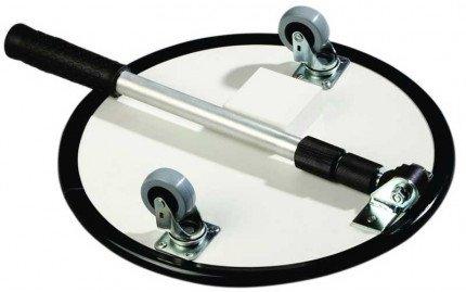 Security Inspection Mirror Castors - Dancop Spexi 35cm - showing castors