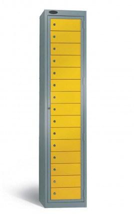 Probe 15 Door Laundry Dispenser Cabinet yellow