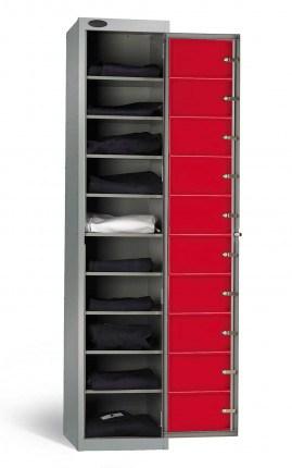 Probe 10 Door Clean Laundry Dispenser Cabinet fully open