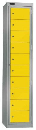 Probe Clean Laundry Dispenser Locker for 10 Users yellow