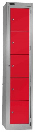 Probe Clean Laundry Dispenser Locker for 5 Users red