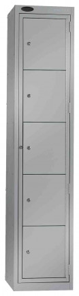 Probe Clean Laundry Dispenser Locker for 5 Users silver grey