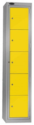 Probe Clean Laundry Dispenser Locker for 5 Users yellow