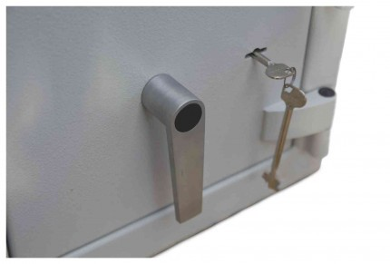 De Raat DRS Prisma 1-1K Small Eurograde1 Key Locking Safe - Handle and Key Lock