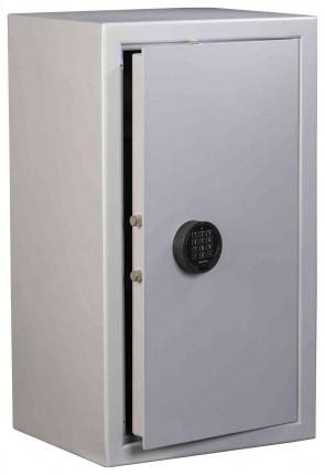 The large 87 litre De Raat Vector S2 4E Electronic Security Safe - door ajar