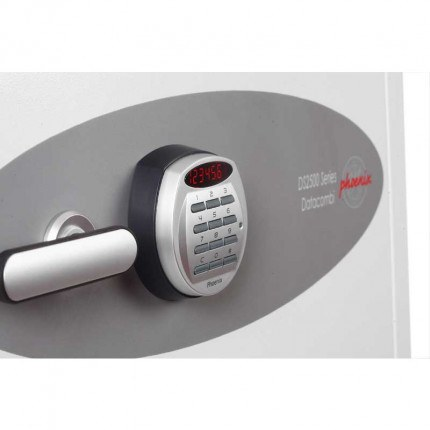 Phoenix DataCombi DS2502E Digital 90min Fire Paper Data Safe - digital electronic lock