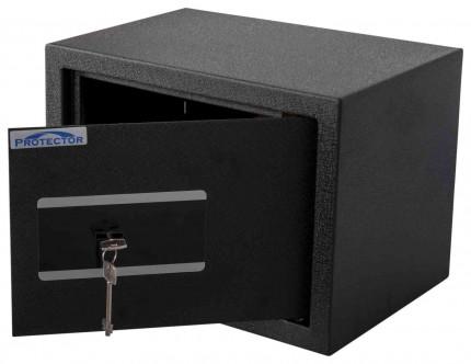 Protector Domestic DS2535K Key Locking Home Security Safe - door ajar