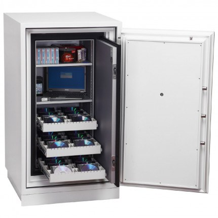 Phoenix Data Commander DS4621F Fingerprint Fire Tape Cabinet - Door Open