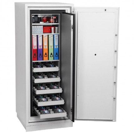 Phoenix Data Commander DS4622F Fingerprint Fire Tape Cabinet - open