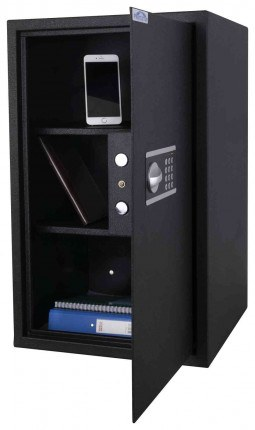 De Raat Protector Domestic DS6540E Electronic Digital Security Safe - Door open with keypad
