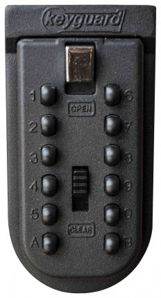 Keyguard Digital Mechanical Push Button Outdoor Key Safe - locked
