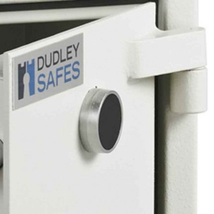 Dudley Compact Home Safe Fire £5000 Security - door hinge detail