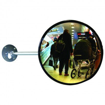 Dancop EC-US-40 Telescopic Arm Convex Wall Mirror - retail use