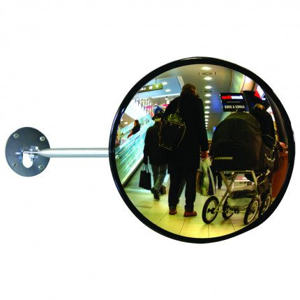 Dancop EC-US-60 Telescopic Arm Convex Wall Mirror - surveillance3