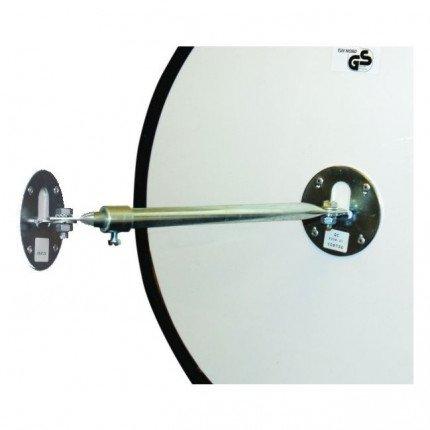 Dancop EC-US-50 Convex Wall Mirror - rear view illustrating telescopic arm