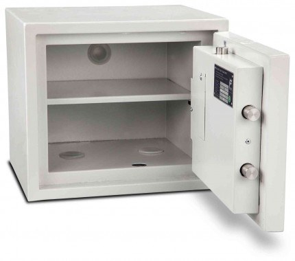 Burton Aver 1K Insurance Approved Key Locking Security Safe - wide open