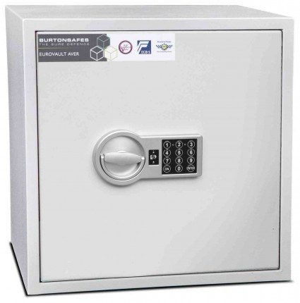 Burton Aver S2 3E Insurance Approved Electronic Security Safe - closed