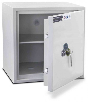 Burton Aver 3K Insurance Approved Key Locking Security Safe - door ajar