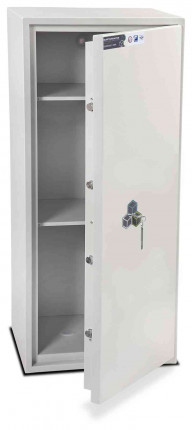 Burton Aver S2 6K Insurance Approved Key Locking Security Safe - door ajar