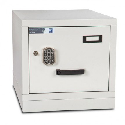 Burton FF100E 1 Drawer Digital Fire Resistant Filing Cabinet - Closed