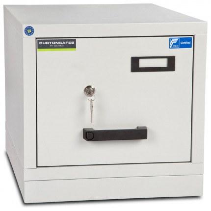 Burton FF100K 1 Drawer Keylock Fire Resistant Filing Cabinet
