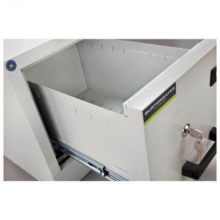 Burton FF100K 1 Drawer Keylock Fire Resistant Filing Cabinet - drawer detail