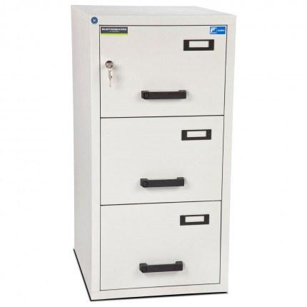 Burton FF300K 3 Key Drawer Fire Resistant Filing Cabinet