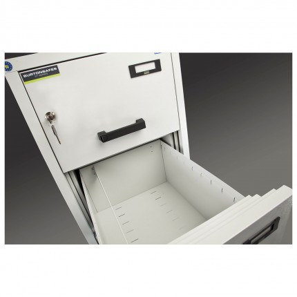 Burton 4 Dr Key Locking Fire Filing Cabinet FF400K MKII 60 mins detail