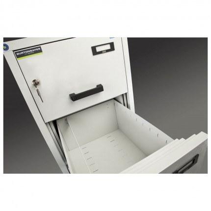 Burton 4 Dr Key Locking Fire Filing Cabinet FF400K MKII 60 mins detail