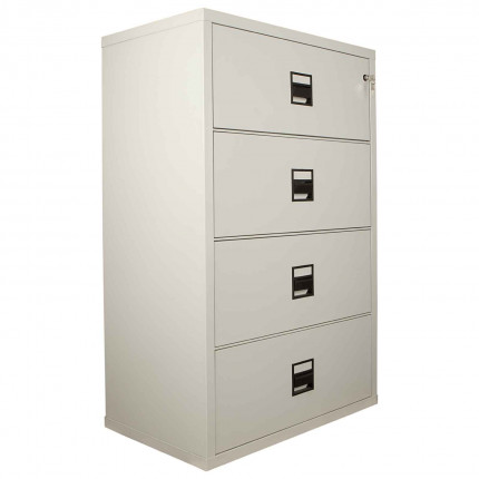 FireKing Lateral 4 Drawer Fire Filing Cabinet with drawers shown closed