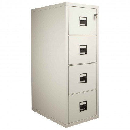FireKing Vertical 4 Drawer Fire Filing Cabinet with drawers shown closed