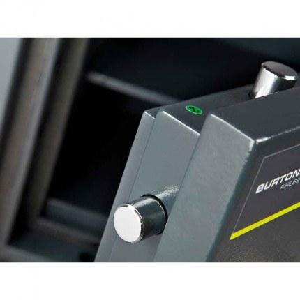 Burton Firesec 4/60 3K Key Locking Security Fireproof Safe - door bolts