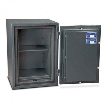 Burton Firesec 4/60 3K Key Locking Security Fireproof Safe - door open to 180 degrees