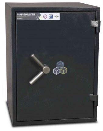 Burton Firesec 10/60 2K Key Locking Security Fireproof Safe - door closed