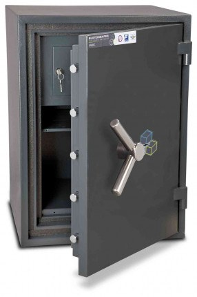 Burton Firesec 10/60 2K Key Locking Security Fireproof Safe - door ajar