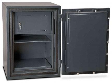 Burton Firesec 10/60 2K Key Locking Security Fireproof Safe - door open