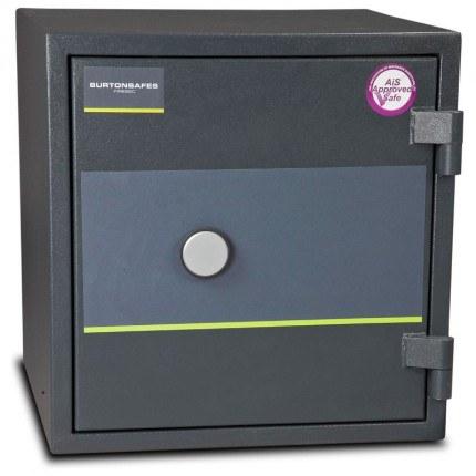 Burton Firesec 4/60 Size 2 S2 Security Fire Safe Key Locking  - door closed