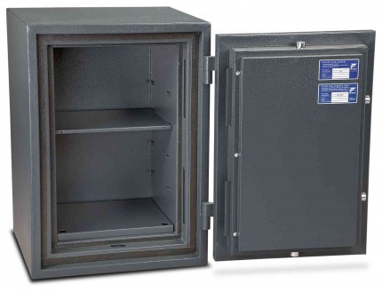 Burton Firesec 4/60 3K Key Locking Security Fireproof Safe - door open