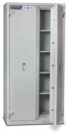 Burton Firesec 4/60/4K Key Lock Security Fireproof Cabinet - door ajar