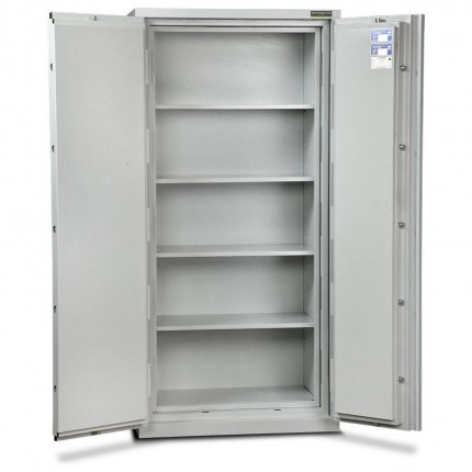 Burton Firesec 4/60/4E Electronic Security Fireproof Cabinet - doors open 180 degrees
