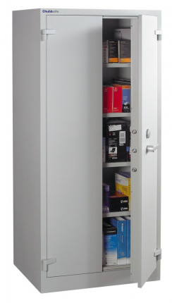 Chubbsafes ForceGuard 3K Key Locking Security Storage Cabinet Size 3 - door ajar
