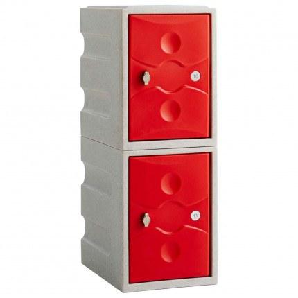 Probe UltraBox Low 2 Door Water Resistant Plastic Locker - red