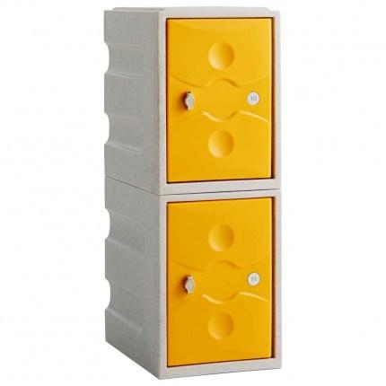 Probe UltraBox Low 2 Door Water Resistant Plastic Locker - yellow